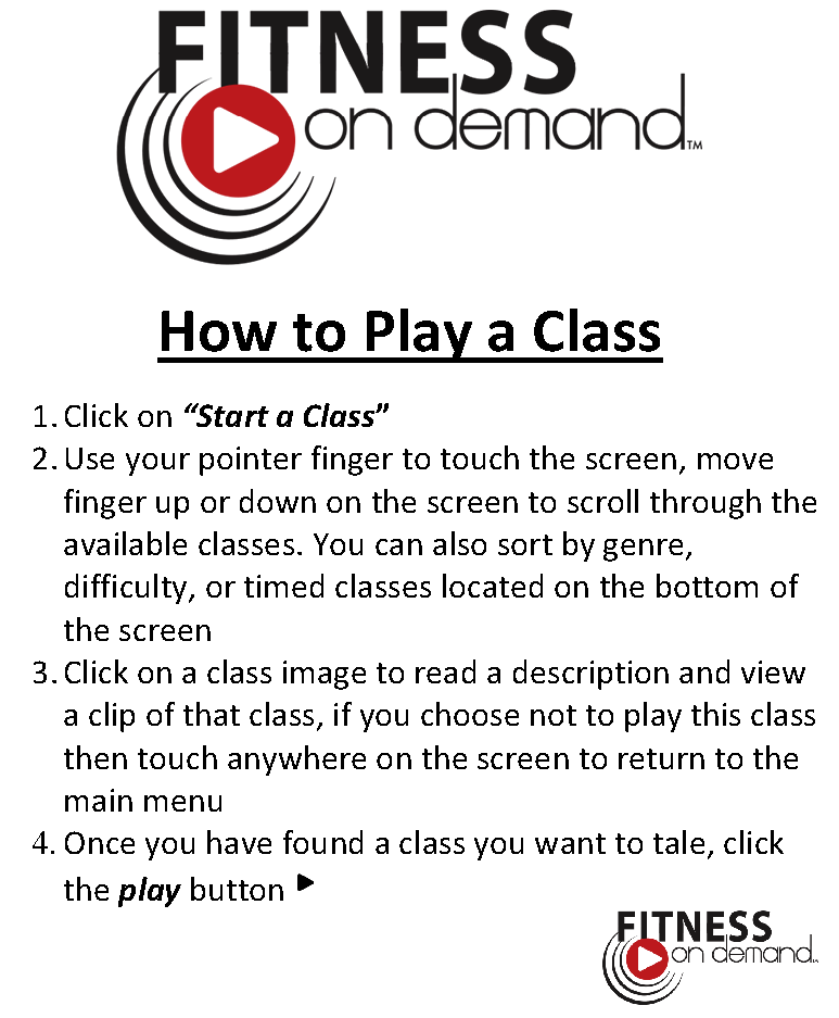 How to Play a Class